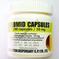 Clomid capsules (Кломид) British Dispensary 100 таблеток (1таб 50 мг)