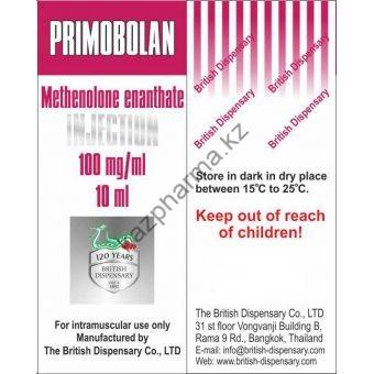 Primobolan (Метенолон, Примоболан) British Dispensary балон 10 мл (100 мг/1 мл) - Астана